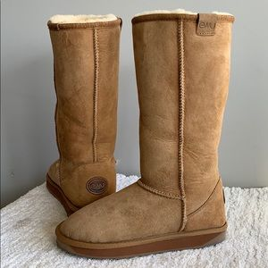 Emu Stinger Hi Platinum Brown Fur Boots Womens 5